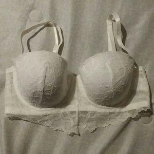 36C H&M white lace bra